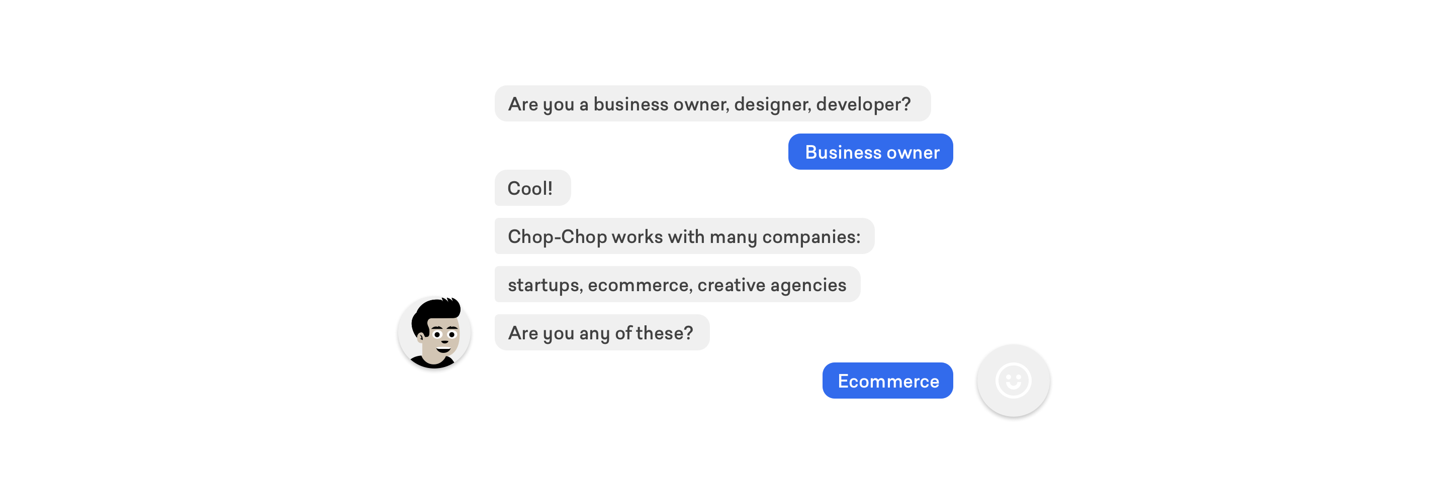 Chatbot experience design with complete conversational